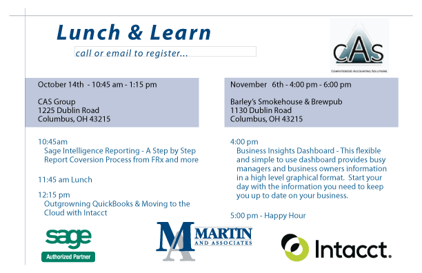 Columbus Lunch & Learn - Martin and Associates